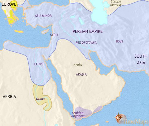 Map of Middle East at 500BCE