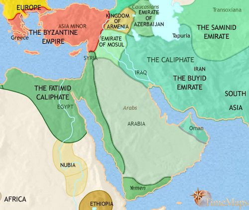 Map of Middle East at 979CE