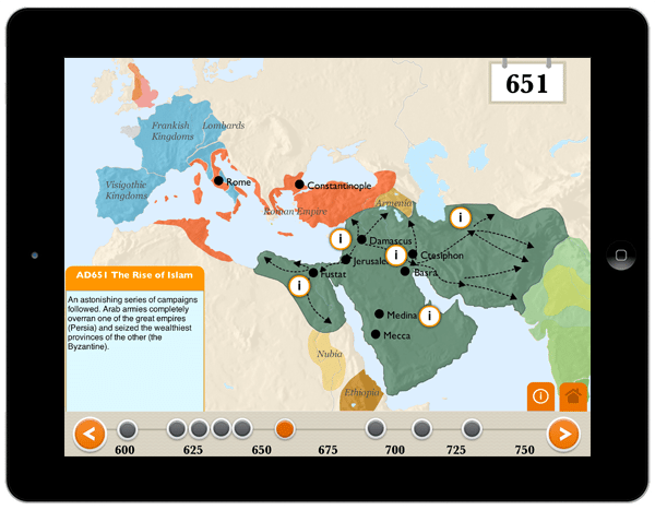the rise of islam history app for ipad