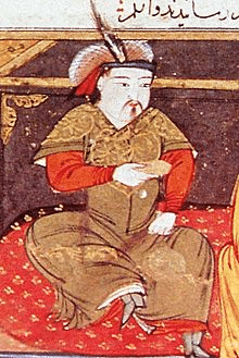 Painting of Hulagu Khan by Rashid-al-Din Hamadani, early 14th century