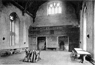 The great hall at Penshurst Place, Kent, built in the mid 14th century
