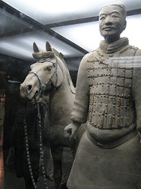 A Terracotta Soldier and his Horse