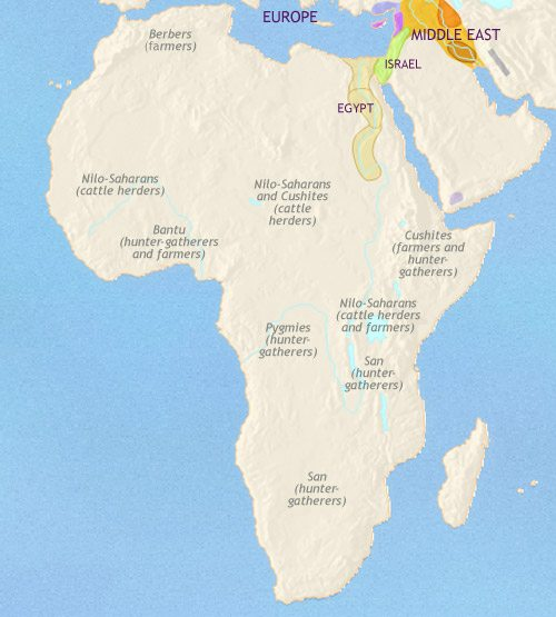 Map of Africa at 1000BCE