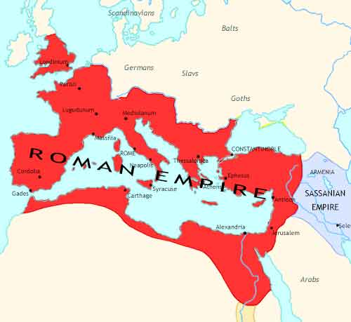 Map of Imperium: the Rise and Fall of an Empire at 337CE