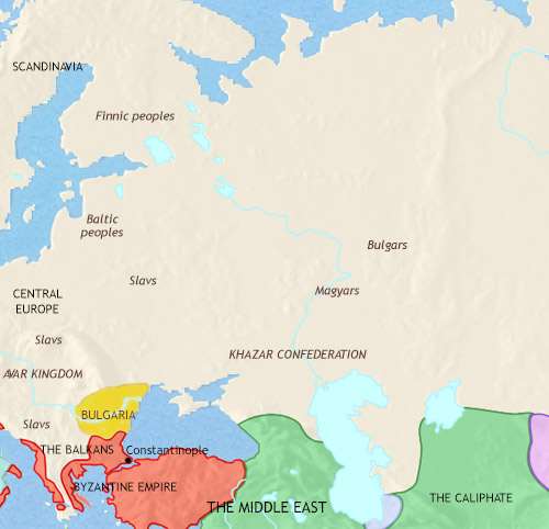 Map of Russia at 750CE