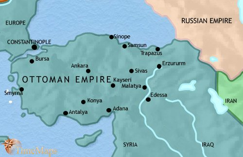 Map of Turkey at 1871CE