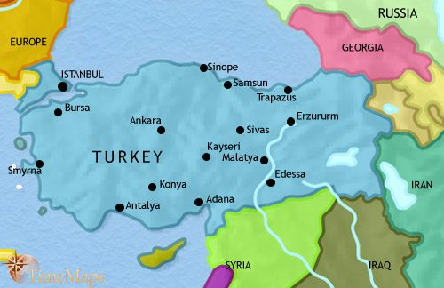 Map Of Turkey At BC TimeMaps - Turkey map