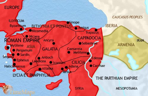 Map of Turkey at 200CE
