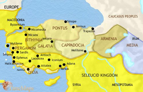 Map of Turkey at 200BCE