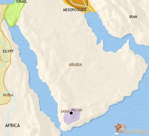 Map of Arabia at 1000BCE