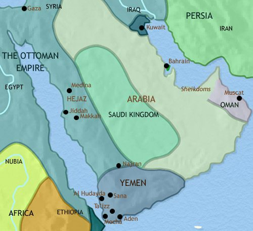 Map of Arabia at 1789CE