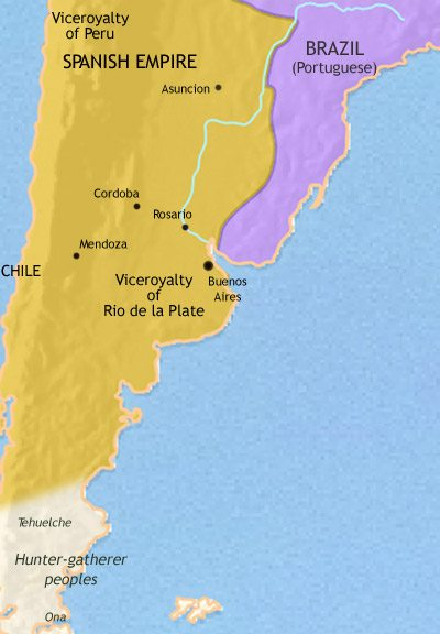 Map of Argentina, Paraguay and Uruguay at 1648AD | TimeMaps