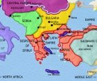 Map of Greece and the Balkans at 1215CE