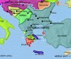 Map of Greece and the Balkans at 1453CE