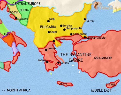 Map of greece and the balkans at 500bc timemaps map of greece and the balkans at 979ce gumiabroncs