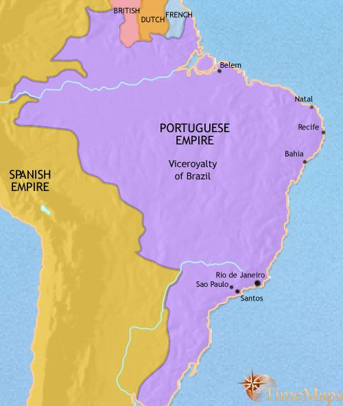 Map of Brazil at 1789CE