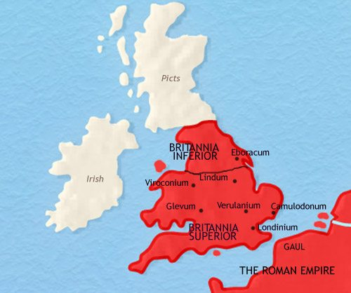 Map of Britain at 200CE