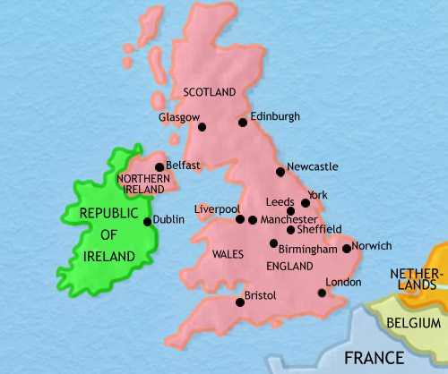 Map of Britain at 1960CE