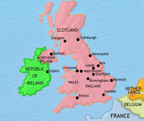 Map of Britain at 2005CE