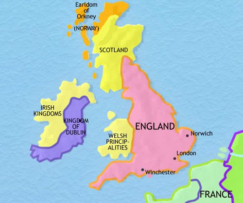 Map of Britain at 979CE