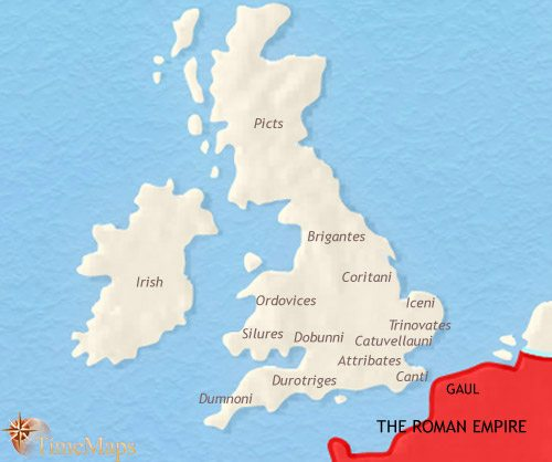 Map of Britain at 30BCE