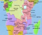 Map of Central Africa at 1960CE