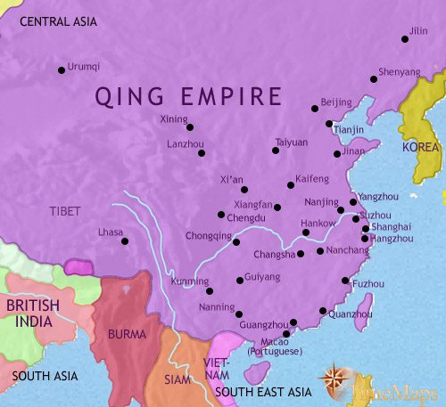 Map of China at 1789CE