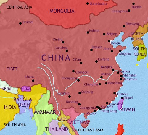 Image Of China Map.China History 1960 Ce