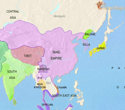 Ancient China And Japan Map Map of East Asia: China, Korea, Japan at 3500BC | TimeMaps