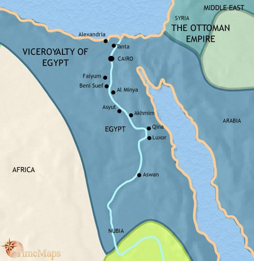 Map of Egypt at 1837CE