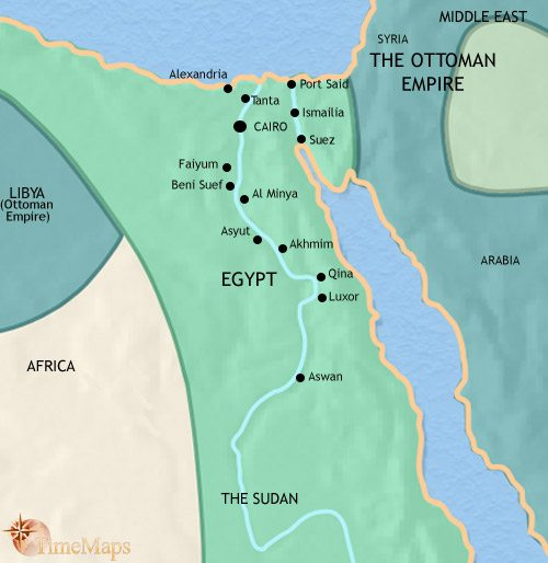 Map of Egypt at 1871CE