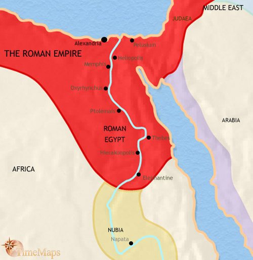 Map of Egypt at 200CE