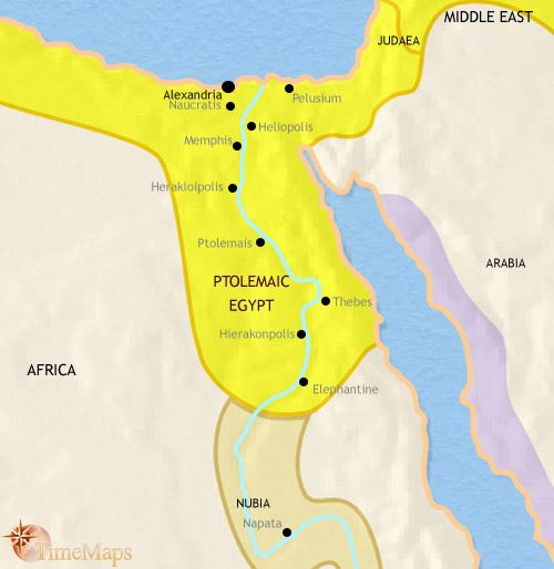 Map of Egypt at 200BCE