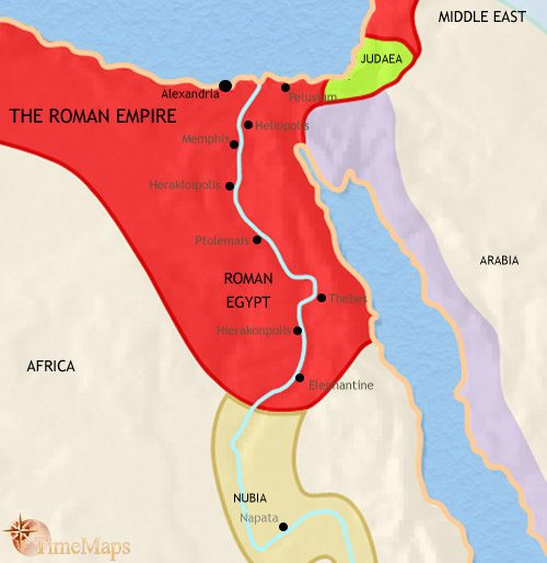 Map of Egypt at 30BCE
