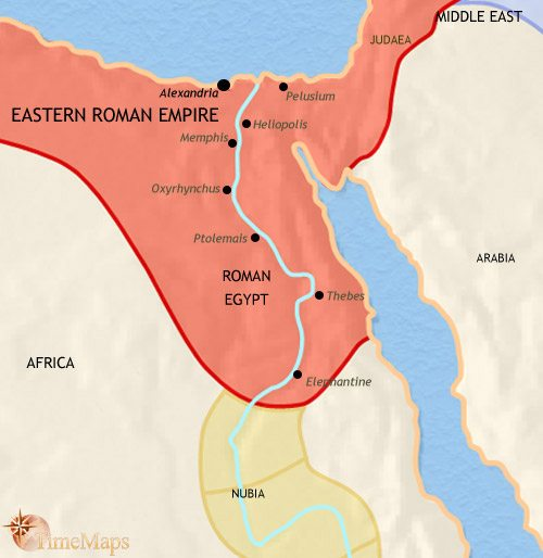 Map of Egypt at 500CE