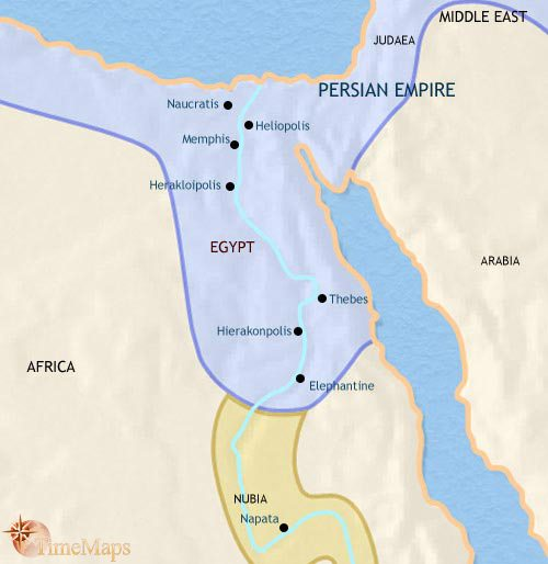 Map of Egypt at 500BCE