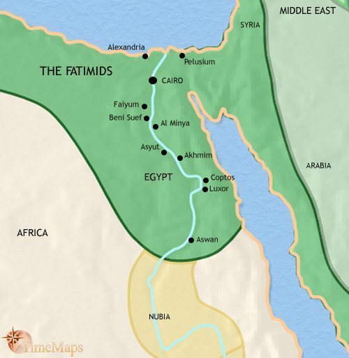 Map of Egypt at 979CE