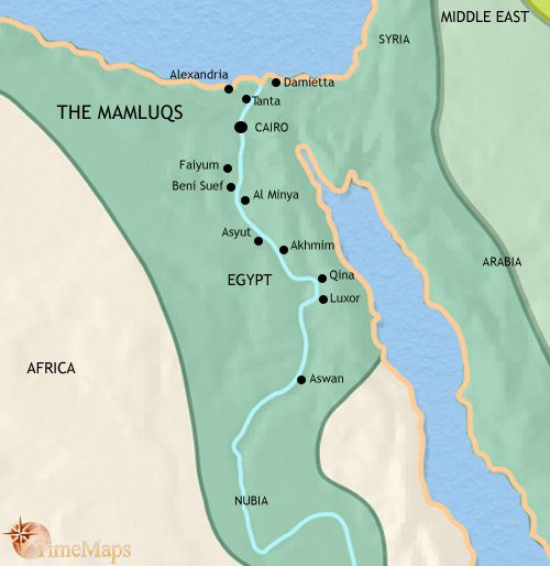 Map of Egypt at 1453CE