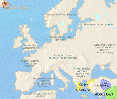 European history 200 bce map of europe at 1500bce gumiabroncs Gallery