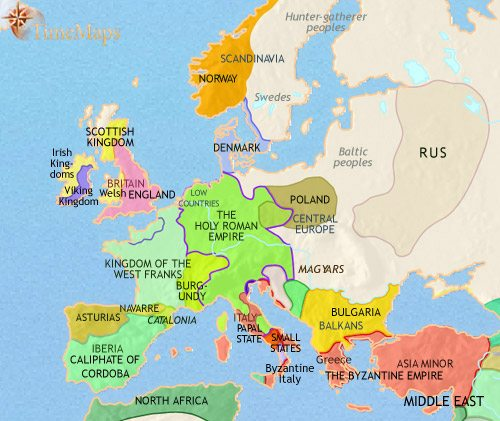 Map of Europe at 500AD | TimeMaps