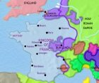 Map of France at 1453CE