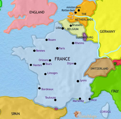 Map Of France Germany.Map Of France At 1789ad Timemaps