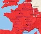 Map of France at 200CE