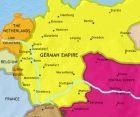 Map of Germany at 1871CE
