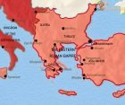 Map of Greece and the Balkans at 500CE