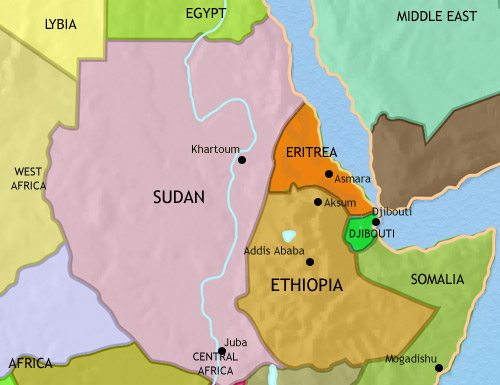 Map of North East Africa at 2005AD | TimeMaps