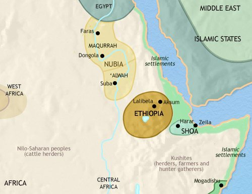 Nubia and Ethiopia 500 CE