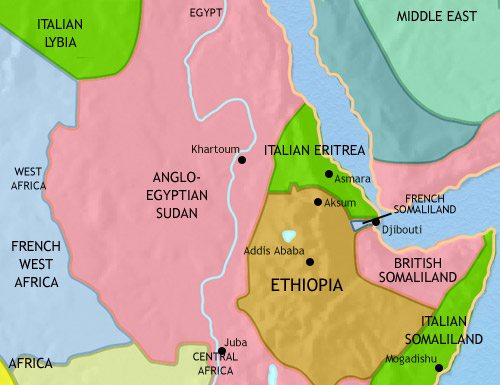 Map of North East Africa at 1914AD | TimeMaps