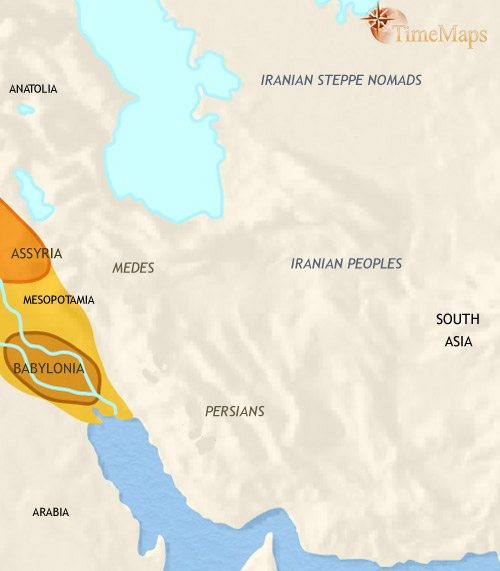 Map of Iran at 1000BCE