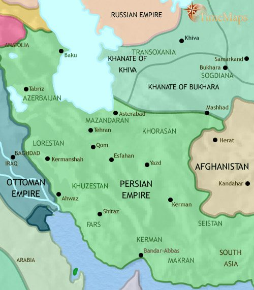 Iran history 1000 bc map of iran at 1789ce gumiabroncs Image collections